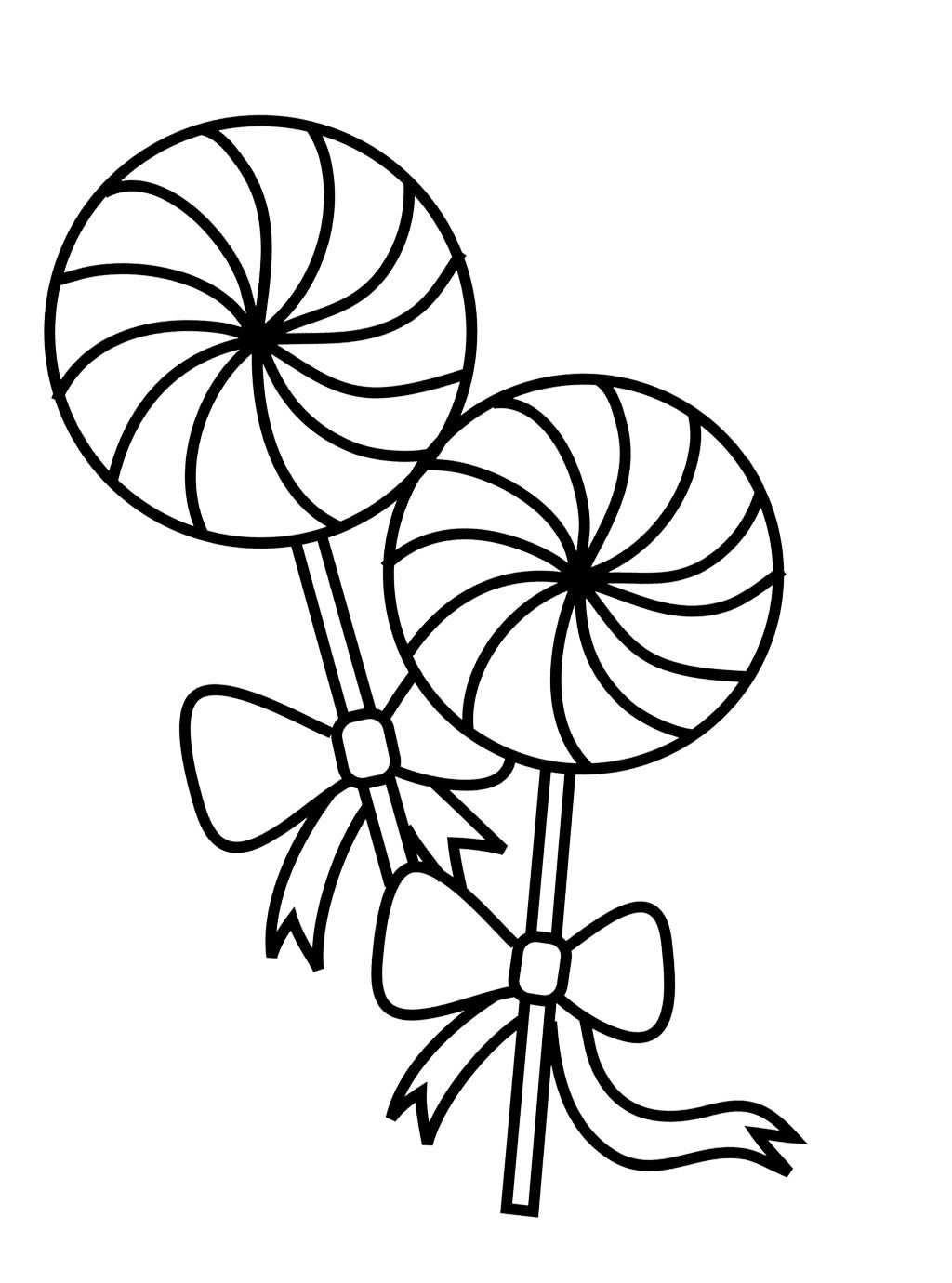 Two Lollipop Coloring Page Valentines Sunny Day Pictures For