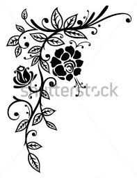 Afbeeldingsresultaat Voor Bloemen Tekeningen Zwart Wit Bloemen