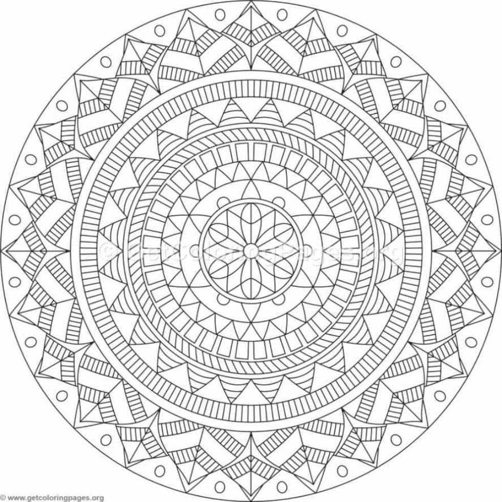 Tribal Mandala Coloring Pages 94 Getcoloringpages Org Tekenen