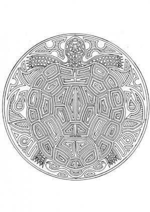 Turtle Mandala By Marina Lawrence 31 Kleurplaten Mandala