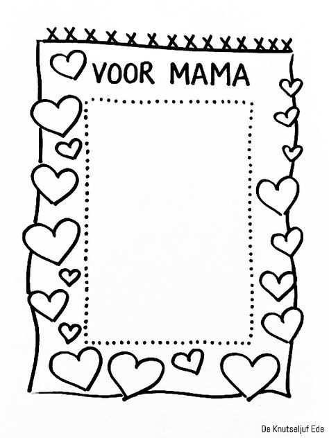 Kleurplaten Voor Mama Knutselidee Moederdag Moederdag Knutselen