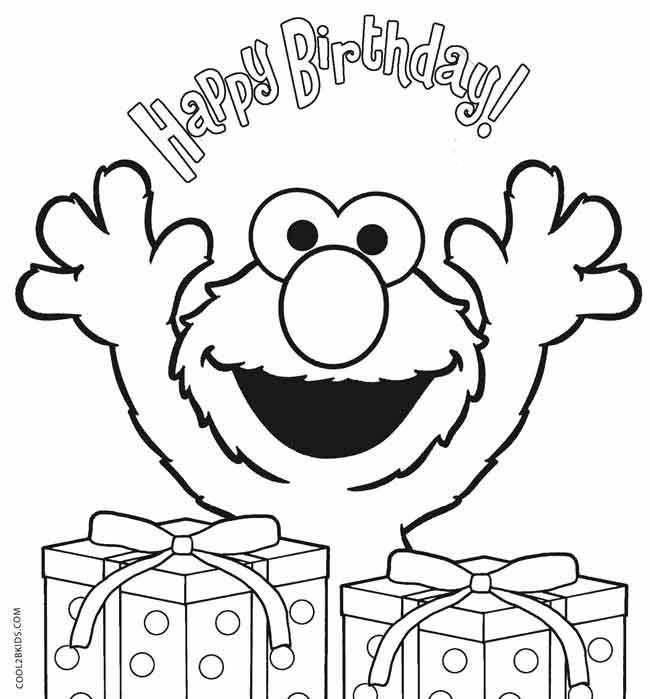 Elmo Coloring Pages With Images Happy Birthday Coloring Pages