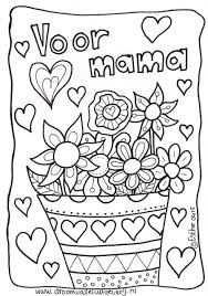 Afbeeldingsresultaat Voor Kleurplaten I Love You Mama Moederdag