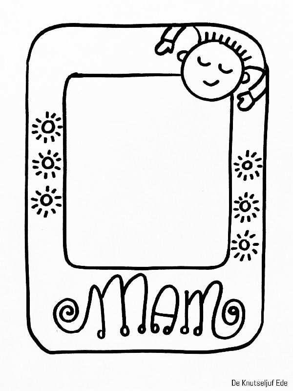 Kleurplaten Voor Mama Met Afbeeldingen Knutselen Voor