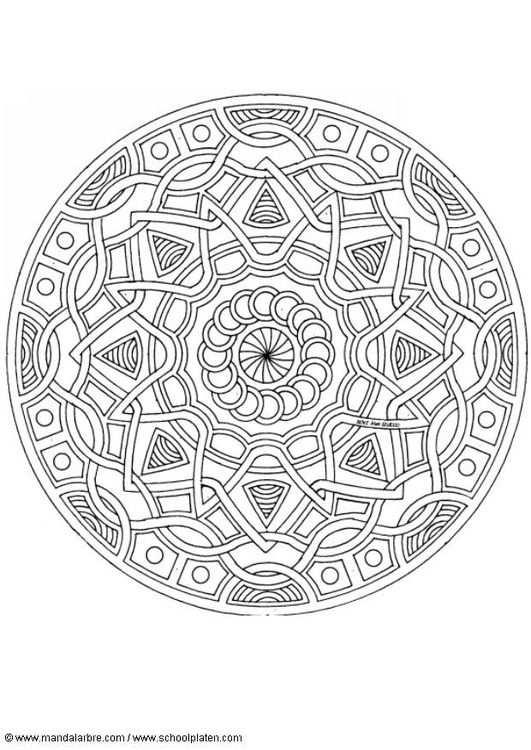 Kleurplaat Mandala 1702l Met Afbeeldingen Mandala Kleurplaten