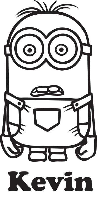 Minion Naamsticker Easy Coloring Pages Minion Coloring Pages