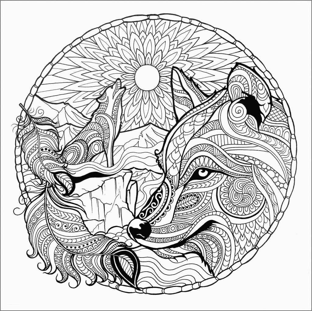 Wolf Coloring Pages For Adults Mandala Kleurplaten Kleurplaten