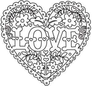 Love And Flowers Heart Kleurplaten Mandala Kleurplaten Kleuren