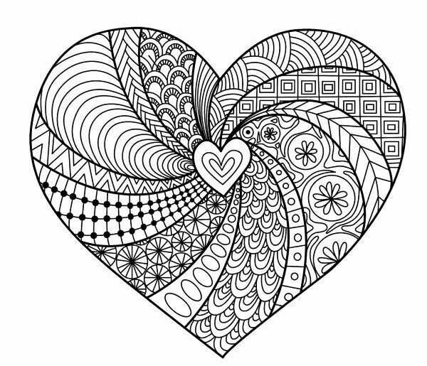 Pin By Melanie Couture On Stvalentin Pinterest Adult Coloring