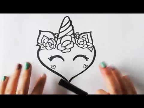 Hoe Teken Je Een Eenhoorn Hart Youtube Hart Tekening
