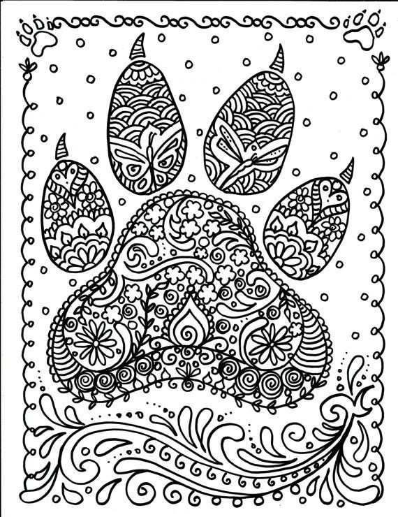 Instant Download Hond Paw Print U Wel De Kunstenaar Hond Minnaar