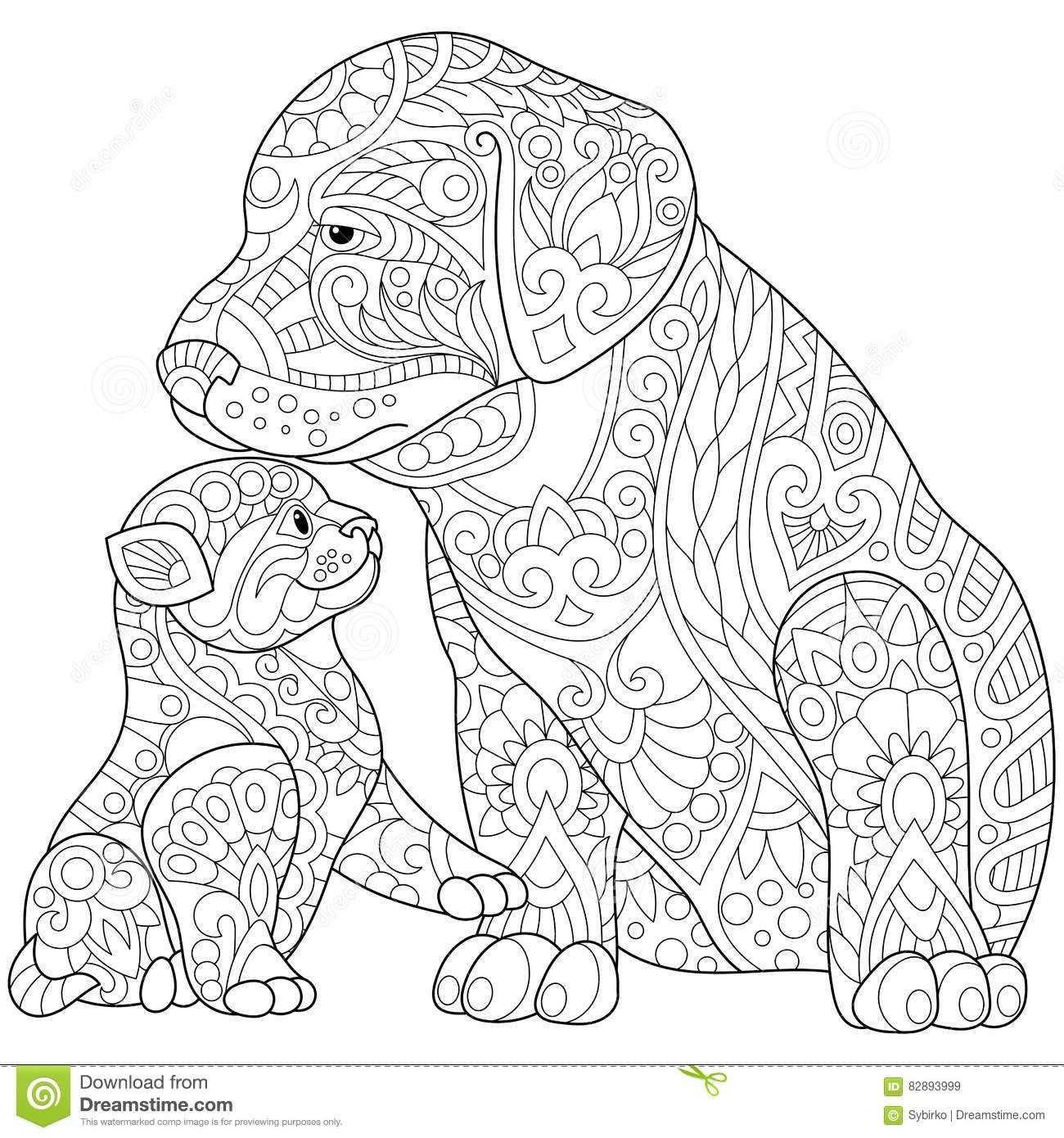Zentangle Dachshund Dog Dieren Kleurplaten Mandala Kleurplaten