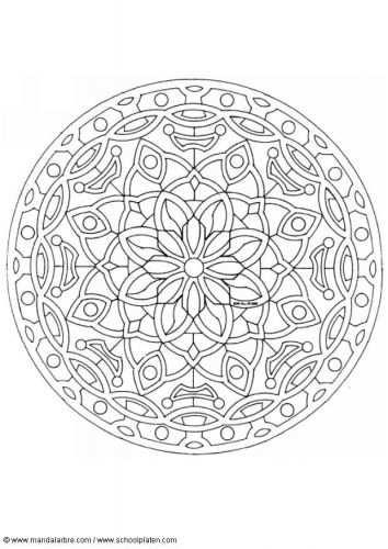 Kleurplaat Mandala 1602c Gerepind Door Www Gezinspiratie Nl