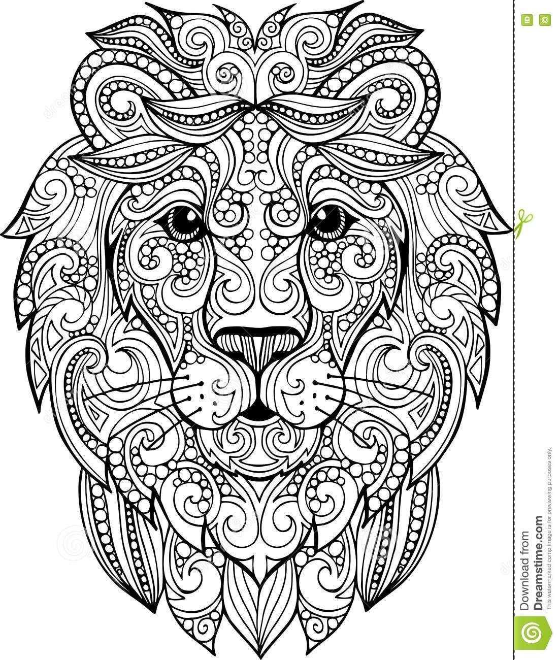 kleurplaat mandala leeuw