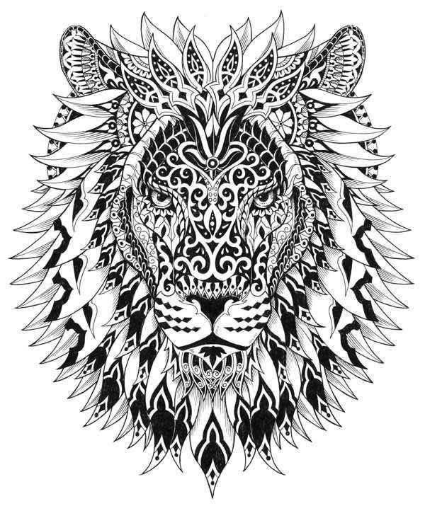 Fantasie Leeuw Avec Images Coloriage Difficile Coloriage