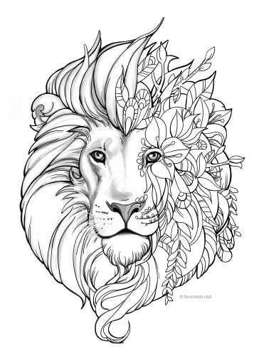 Fantasy Lion Coloring Page Mandala Kleurplaten Kleurplaten