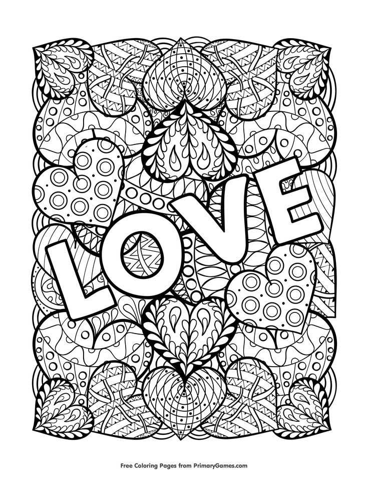 Love Coloring Page Free Printable Ebook Love Coloring Pages