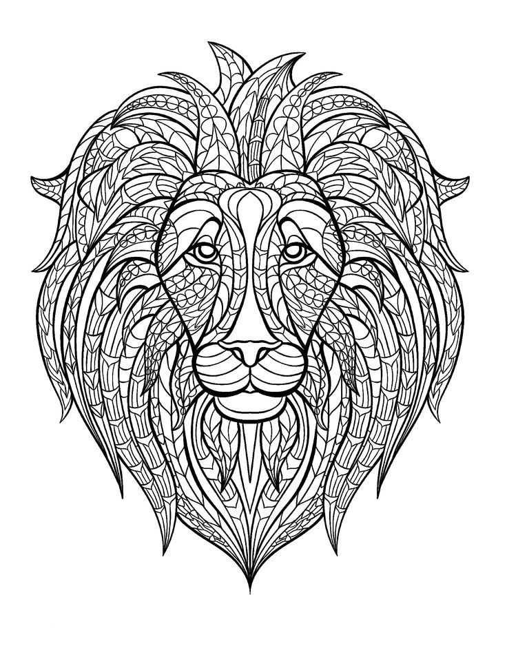Pin Van Barbara Op Coloring Lion Tiger Kleurplaten Adult