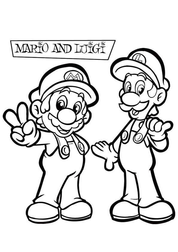 Super Mario Coloring Pages Met Afbeeldingen Kleurplaten