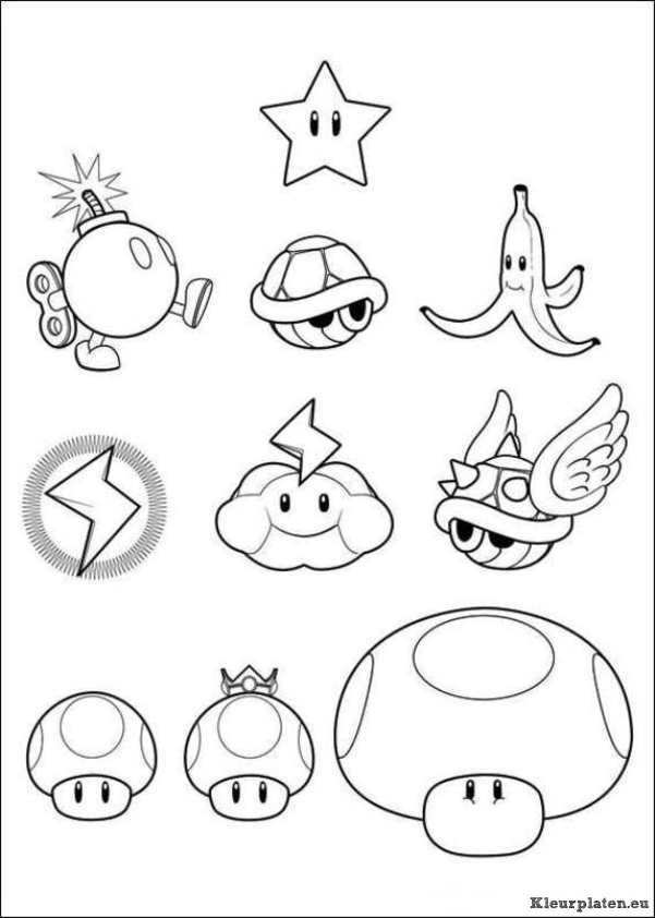 Super Mario Bros Kleurplaat Mario Bros Super Mario Super Mario