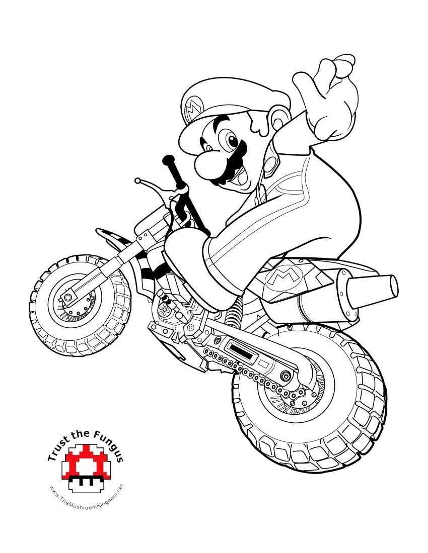 Mario Kart Coloring Page Super Mario Coloring Pages Mario