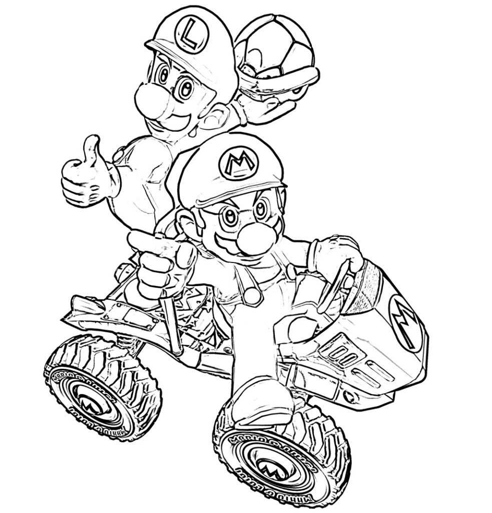 Mario Kart Coloring Pages Super Coloring Pages Cartoon Coloring