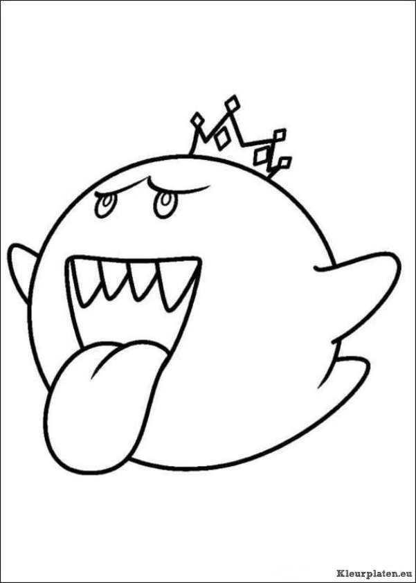 Super Mario Bros Kleurplaat With Images Mario Bros Super