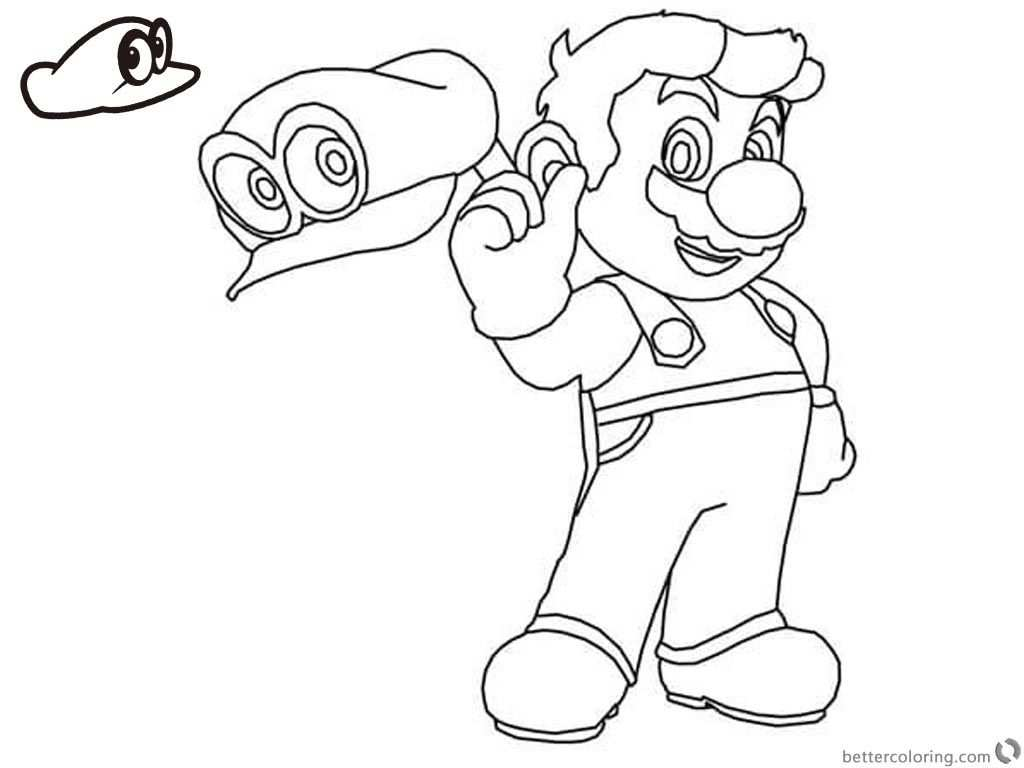 Kleurplaat Mario Odyssey