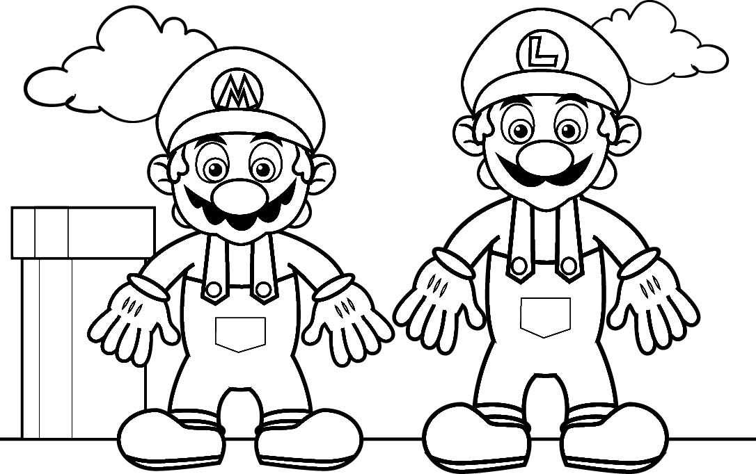 Mario Coloring Pages With Images Mario Coloring Pages Super