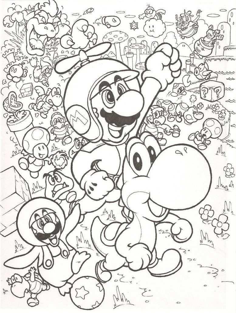 Leuke Kleurplaat Met Mario With Images Mario Coloring Pages