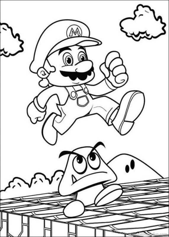 Super Mario Bros Coloring Pages 36 With Images Super Mario