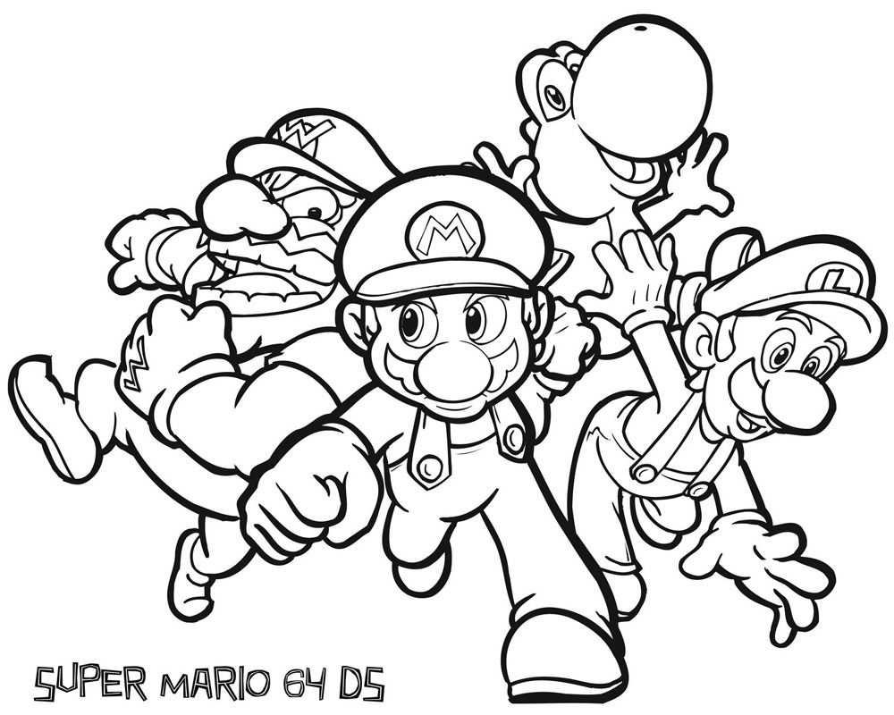 Pin Van Coloring Sheets Op Super Mario Kleurplaten Abstracte