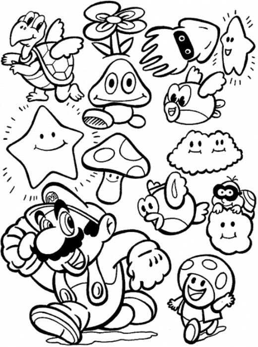 Pin By Carley Hill On Color Pages Super Mario Coloring Pages