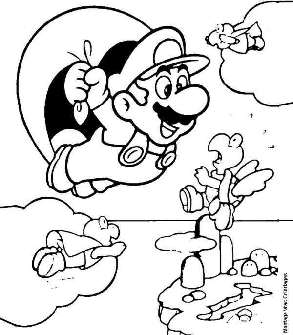 Desenhos Do Mario Para Colorir Imprimir Jpg 600 686