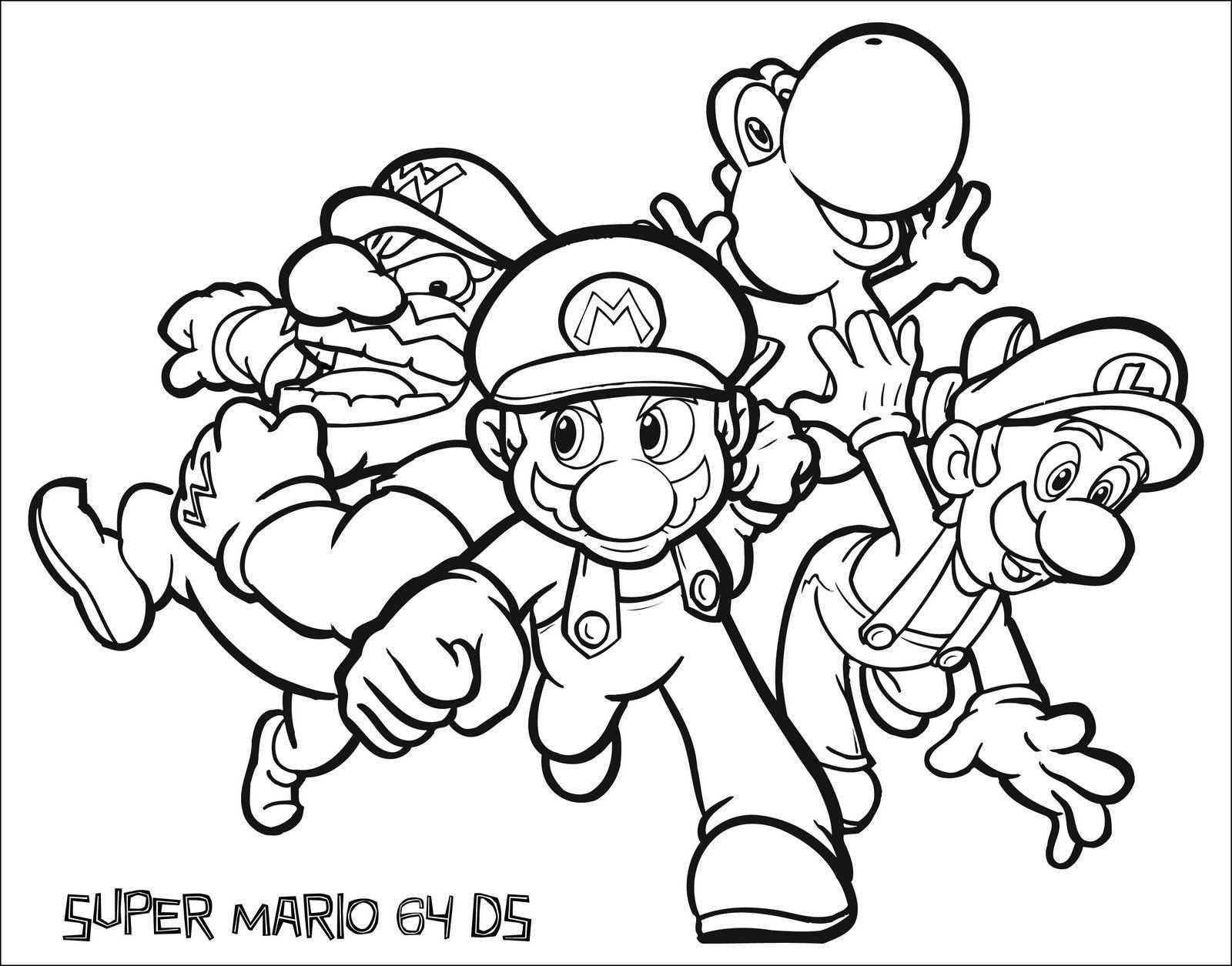 Super Mario Bros Party Ideas And Free Printables Kleurplaten