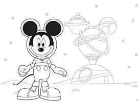 Disney Junior Print En Kleur Mickey Mouse Clubhuis Mickey
