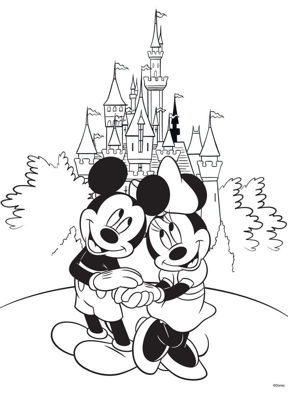 Free Disney Coloring Page Printable Colorear Disney Dibujos