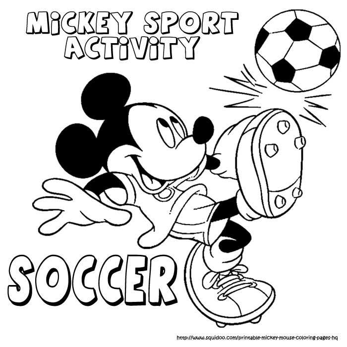 Mickey Mouse Sport Coloring Pages With Images Sports Coloring