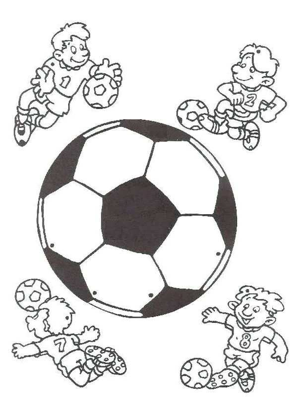 Voetbal Kleurplaat Google Zoeken Voetbal Knutselen Voetbal