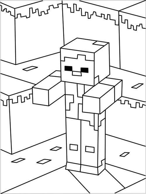 Minecraft Kleurplaat 5 Topkleurplaat Nl School Activities