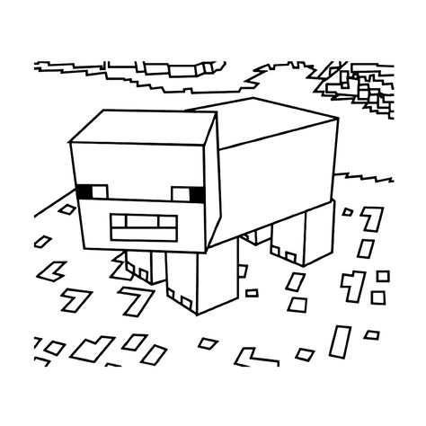 Minecraft Dier Lego Kleurplaten Kleurplaten En Minecraft