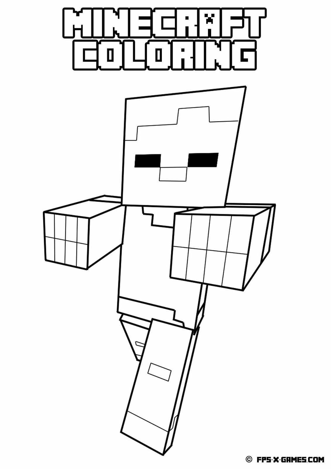Coloring Minecraft Varityskuva Minecraft Opetus