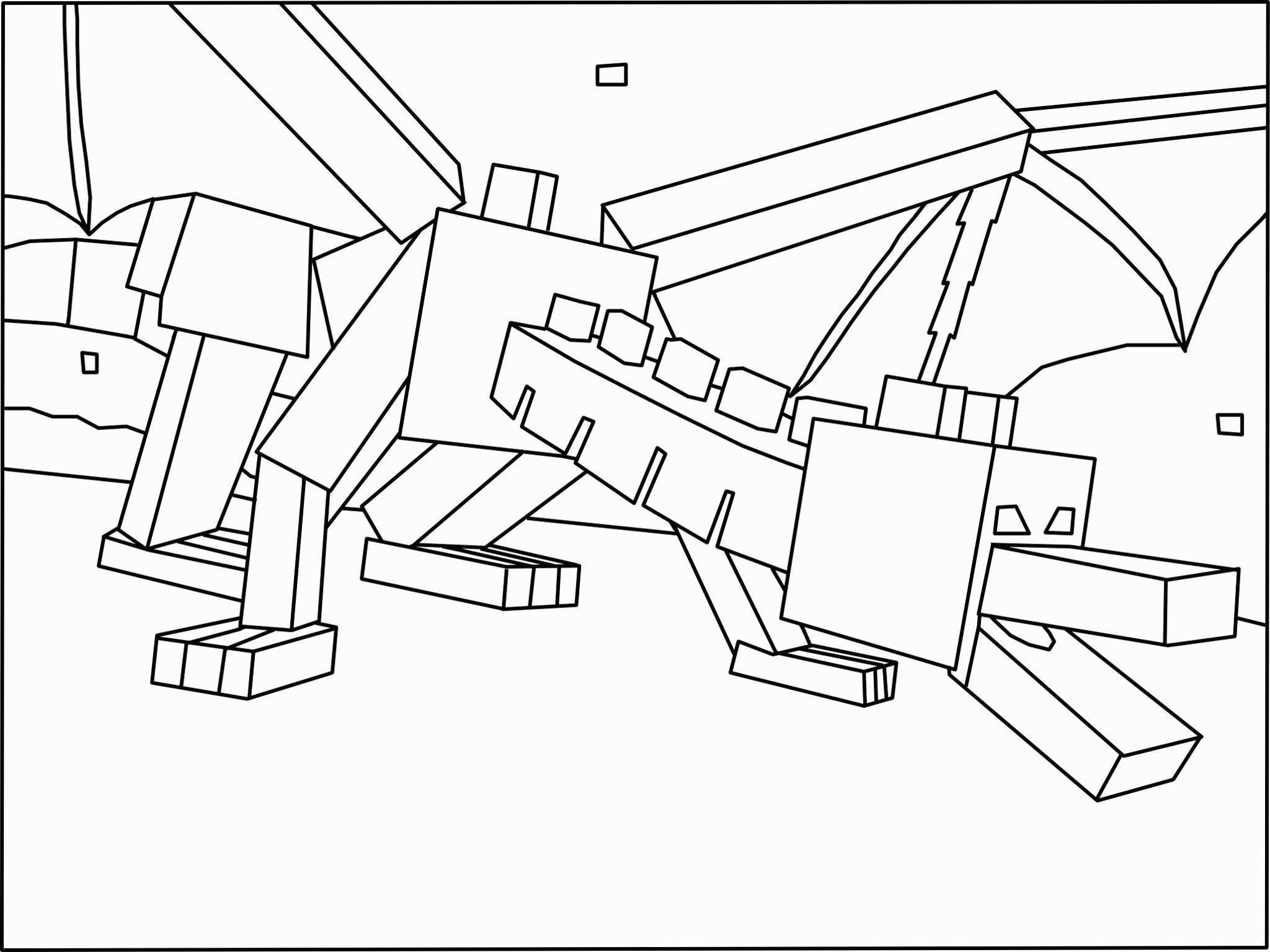 Ender Dragon Coloring Page Inspirational Minecraft Ender Dragon
