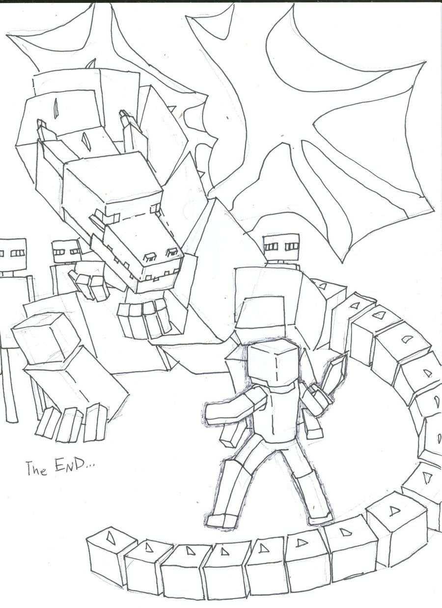Minecraft Coloring Pages Minecraft Coloring Pages Dragon