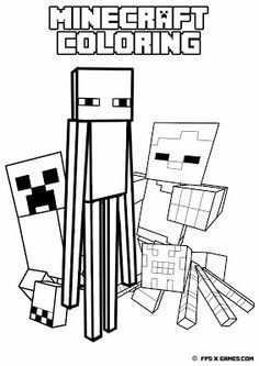 25 Gratis Te Printen Minecraft Kleurplaten Topkleurplaatnl Met