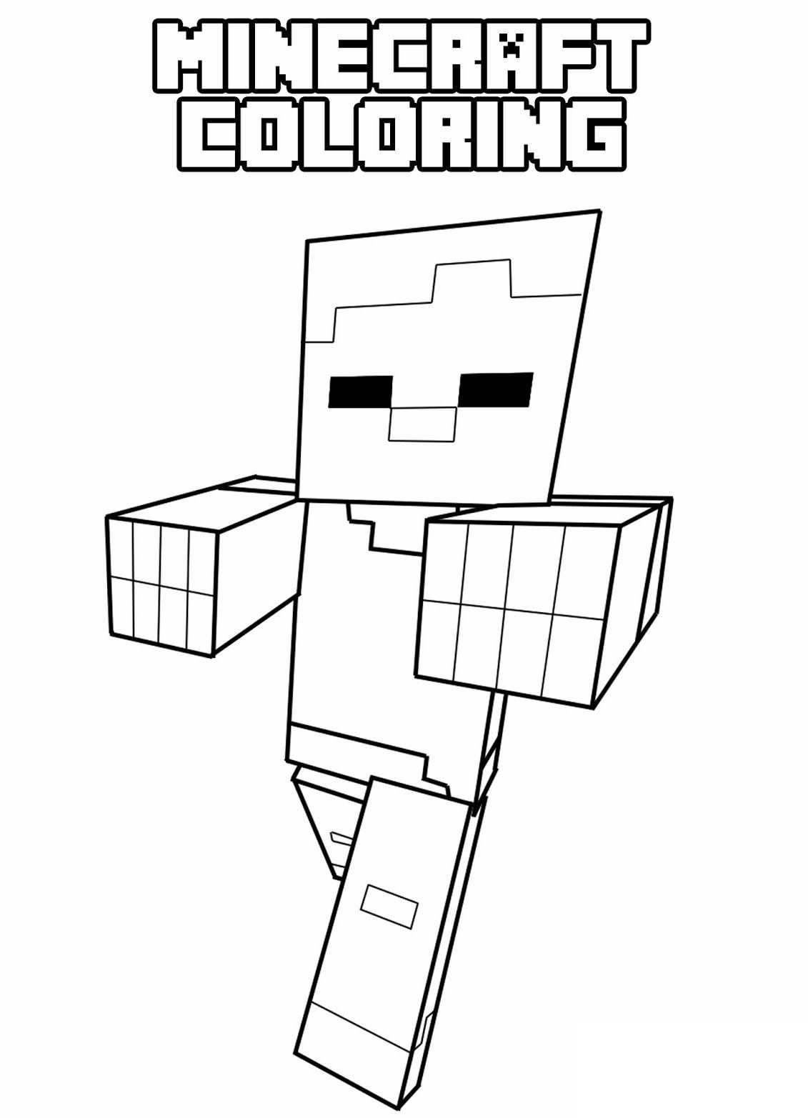 Minecraft Coloring With Images Minecraft Szinezo Blog