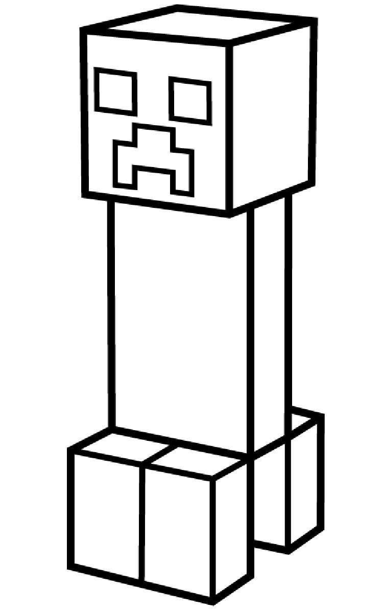 Minecraft Creeper Coloring Pages Printable Kleurplaten