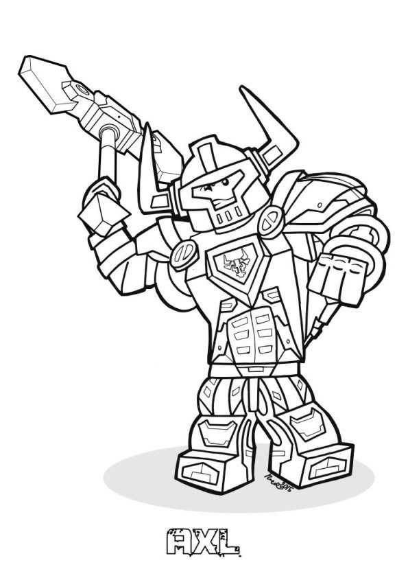 Coloring Page Lego Nexo Knights Lego Nexo Knights With Images