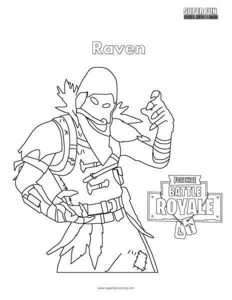 Fortnite Coloring Pages Raven Busqueda De Google Dibujos