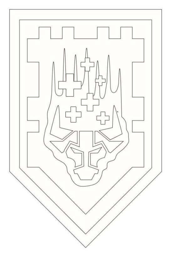 Coloring Page Lego Nexo Knights Shields 3